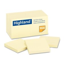 Highland Self-Stick Note Pad, 18 Pack