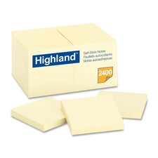 Highland Self-Sticking Note Pads (18 Per Pack)