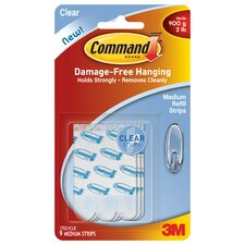 Clear Medium Command Refill Strip (Set of 9)