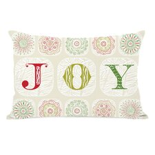 Holiday Boho Joy Throw Pillow