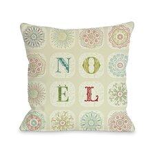 Holiday Boho Noel Throw Pillow