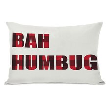 Holiday Bah Humbug Plaid Lumbar Pillow