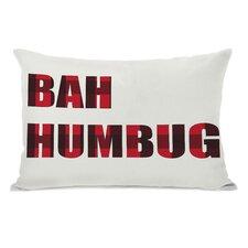 Holiday Bah Humbug Plaid Throw Pillow