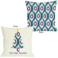 Tis The Season Ikat Tree Reversible Throw Pillow