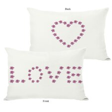 Love Mini Flowers Reversible Lumbar Pillow