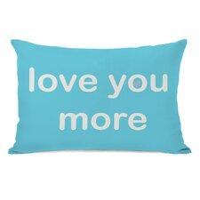 Love You Lots/Love You More Reversible Lumbar Pillow