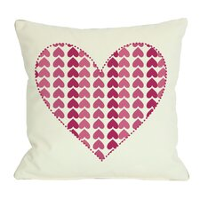 Repeating Heart Throw Pillow