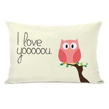 I Love You Owl Lumbar Pillow