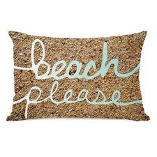 Beach Please Sand Throw Pillow