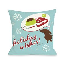 Doggy Décor Holiday Wishes Dog Throw Pillow