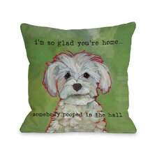 Doggy Décor Somebody Pooped Throw Pillow