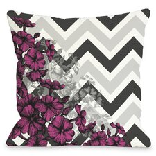 Amber Chevron Floral Throw Pillow