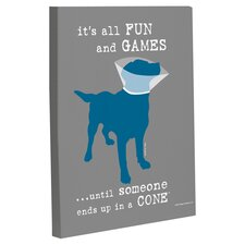 Doggy Decor Fun and Games Graphic Art on Wrapped Canvas