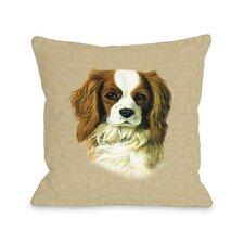 Doggy Décor Cavalier King Charles Throw Pillow