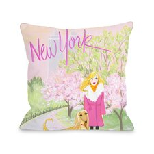 Love from NYC 25 New York Girl Dog Throw Pillow