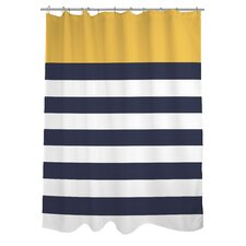 Nautical Striped Shower Curtain