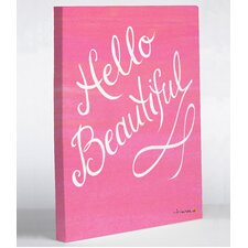 Hello Beautiful Timree Painting Print on Wrapped Canvas