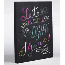 Let Your Beautiful Light Shine by Mary Beth Graphic Art on Wrapped Canvas