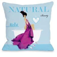 Natural Beauty Throw Pillow