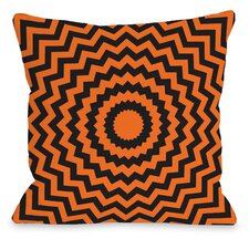 Halloween Chevrons Throw Pillow