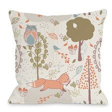 Autumn Critters Throw Pillow