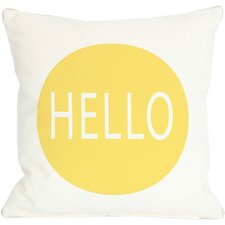 Hello Circle Throw Pillow
