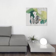 Green Dining Room by Judit Garcia Talvera Graphic Art on Wrapped Canvas
