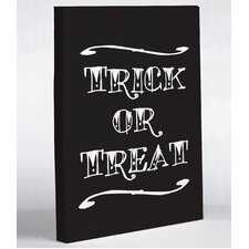Trick or Treat Tattoo Letters by OBC Wall Art on Canvas