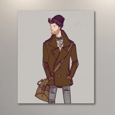 Buttoned Coat by Michael Sanderson Painting Print on Wrapped Canvas