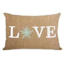 Love Snowflake Paper Lumbar Pillow