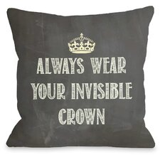 Invisible Crown Chalkboard Throw Pillow