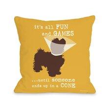 Doggy Décor Fun and Games Throw Pillow