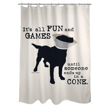 Doggy Decor All Fun and Games Shower Curtain