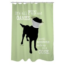 Doggy Decor Fun and Games Shower Curtain