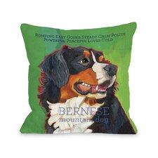 Doggy Décor Bernese Mountain Dog Throw Pillow