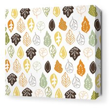 Rhythm Collage Stretched Graphic Art on Wrapped Canvas in Grass