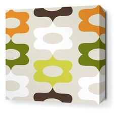 Aequorea Laugh Graphic Art on Wrapped Canvas in Grass and Lime