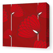 Aequorea Lotus Graphic Art on Wrapped Canvas in Scarlet