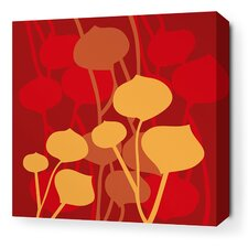 Aequorea Seedling Graphic Art on Wrapped Canvas in Scarlet