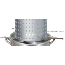 Strainer Rack for Draining Large Baskets Over Boiling Pots