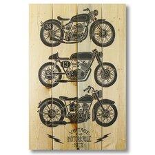 Wile E. Wood Vintage Motorcycle Wall Art