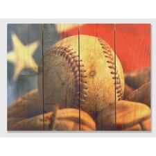 All American  Full Color Cedar Wall Art