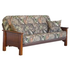 Margaux Futon Frame and Mattress with Pillows