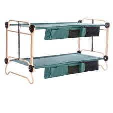 Cam-O-Bunk Bed with 2 Organizer and 2 Leg Extension