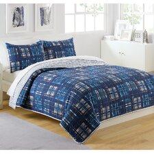 Patchwork Plaid Quilt Set