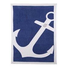 Oversized Anchors Beach Towel