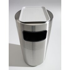 Cleanline 39-Gal Side Load Stainless Steel Waste Receptacle with Tray Top