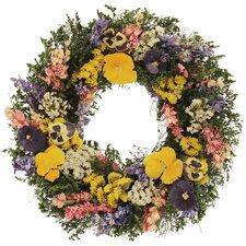 Pansy Treasures Wreath