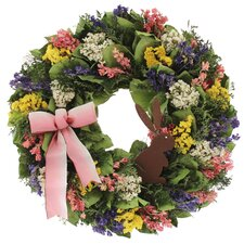 Chocolate Bunny Natural Elements Wreath