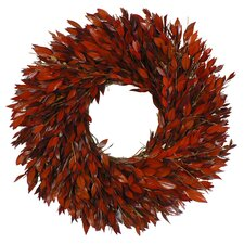 Red Myrtle Preserved Wreath